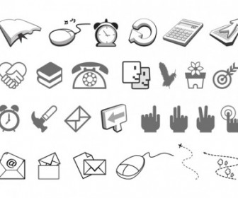 Simple Black and White Icon Vector Pack
