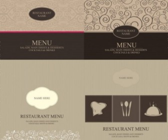 Western Menu Cover Vector Background