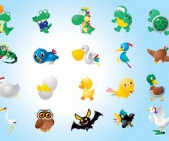 Animal Character Vector Illustrations