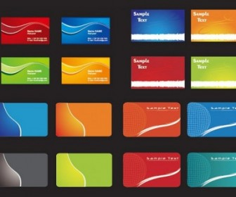 Practical Card Template Vector Background