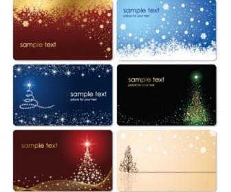 Christmas Cards Vector Set