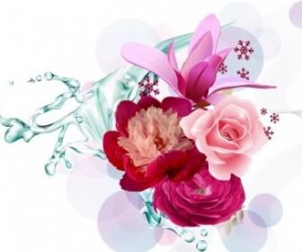 Purple Vector Flower Art