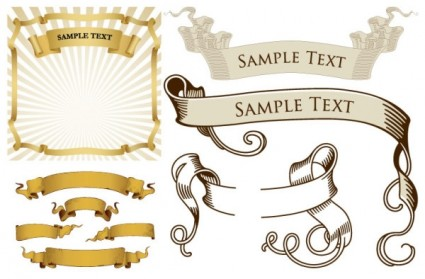 Retro Ribbon Banner Vector Pack - Ai, Svg, Eps Vector Free Download