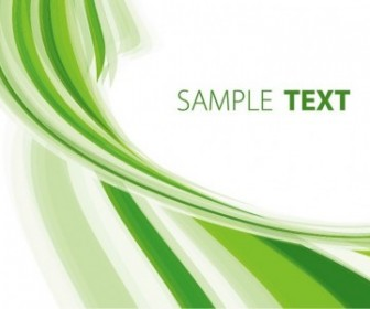Green Abstract Background Vector Template