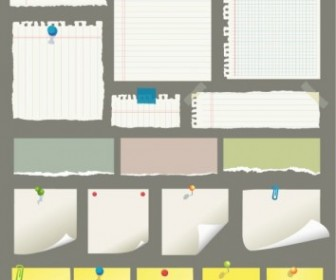 Sticky Notes and Scrap Paper Vector Pack