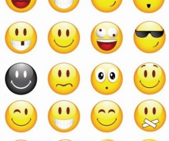 Cool Smilies Vector Icon Set Vector Icon