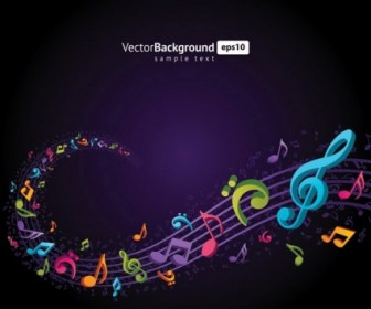 Theme Music Notes Vector Background