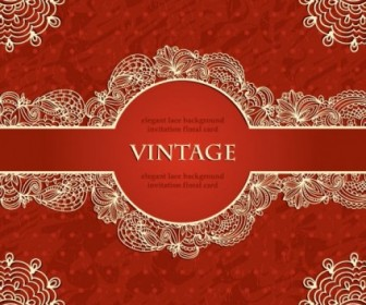Vintage European Lace Pattern Background Vector Background