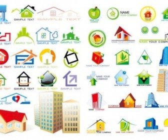 House Icons Vector Graphics