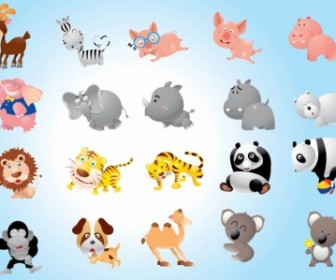 Animal Cartoons Pack Vector Cartoon