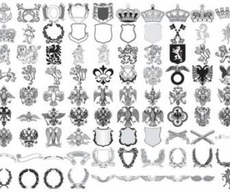 90 European Royal Element Vector Decoration