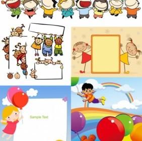 Children Cartoon Illustration Vector