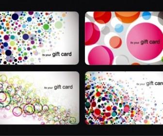 Modern Gift Card Templates Vector