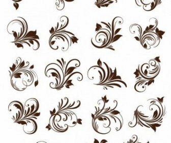Floral Ornament Element Vector