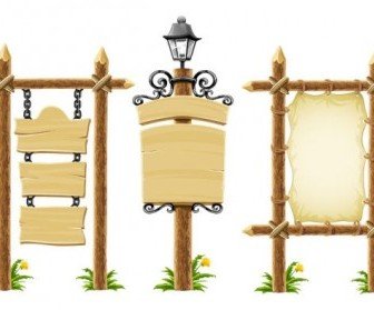 Wooden Bulletin Board Lights Vector