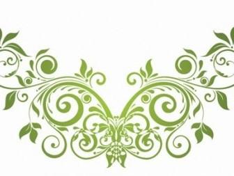 Swirl Floral Design Element Vector Decoration