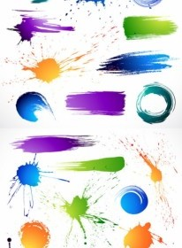 The Splash Brush Effects Vector Background
