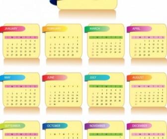 Calendar 2014 Vector Illustration