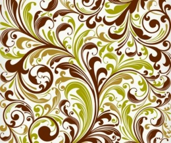 Floral Swirl Vector Art Decoration
