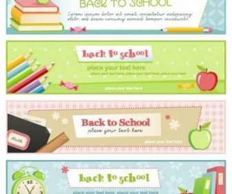 Education Theme Banner Design Template Vector