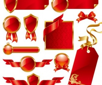 Red Ribbon Theme Vector Pack