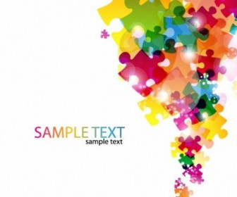 Abstract Puzzle Background Vector Abstract