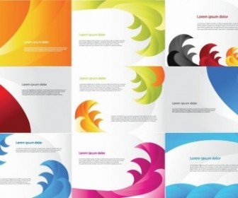Business Cards Various Color Vector