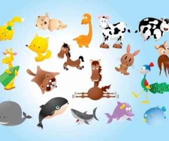 Animal Comics Vector Pack