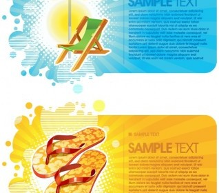 Vector Summer Fashion Card Background