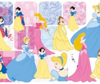 Snow White And The Pattern Vector Illustration