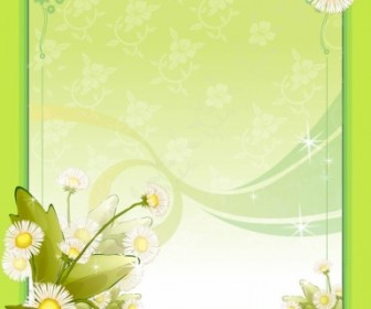 Spring Flower Frame Vector Decoration