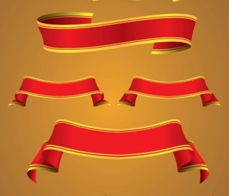 Curved Banners Vector Art