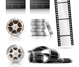 Film Negatives Vector Icons
