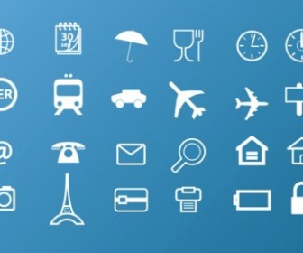 Travel Icons Vector Web Icon
