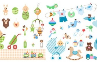 Baby Theme Vector Clip Art