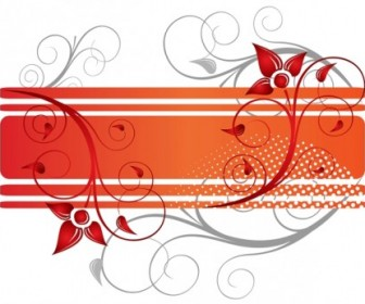 Floral Design Banner Vector Graphic