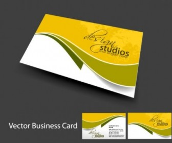 Brilliant Dynamic Business Card Template Vector