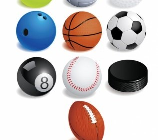 Collection Variety Ball Games Vector