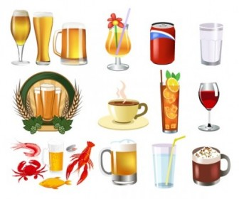 Drink Beer Vector and Food Elements