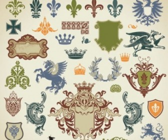 European Style Lace Pattern Vector Pack