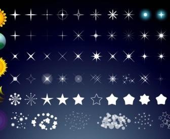 Sun Stars Moon Vector