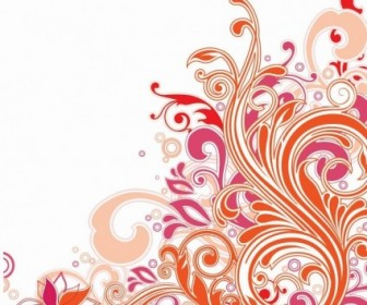 Swirl Floral Design Vector Art Background