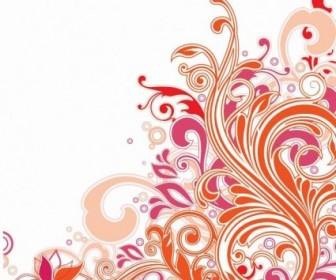 Swirl Floral Design Vector Art Background