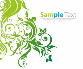 Swirl Floral Vector Background Decoration