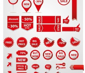 Sale Tags Element Vector Icon