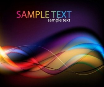 Abstract Colorful Light Waves Vector Background Vector Abstract