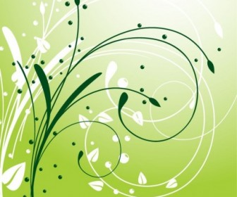 Abstract Swirl Floral Background Vector Vector Floral