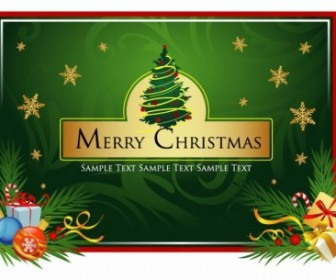 Beautiful Christmas Card Vector Card Background