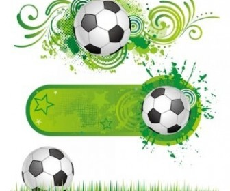 Football Themes Pattern Vector Decoration