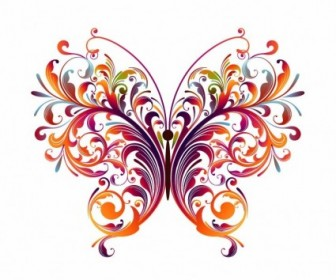 Floral Butterfly Vector Abstract